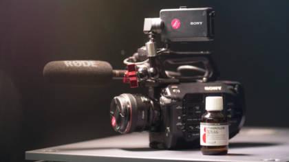 Kamera mit Desinfektionsmittel