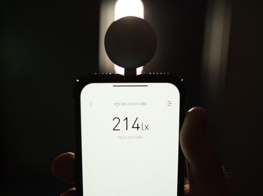 Lumu Lichtmesser misst das LED-Licht für Video