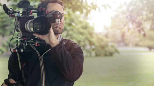 Roman Lehman mit Kamera