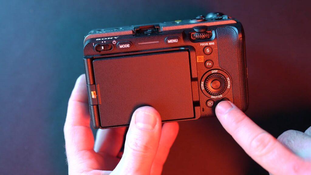 Sony FX3 Rückseite