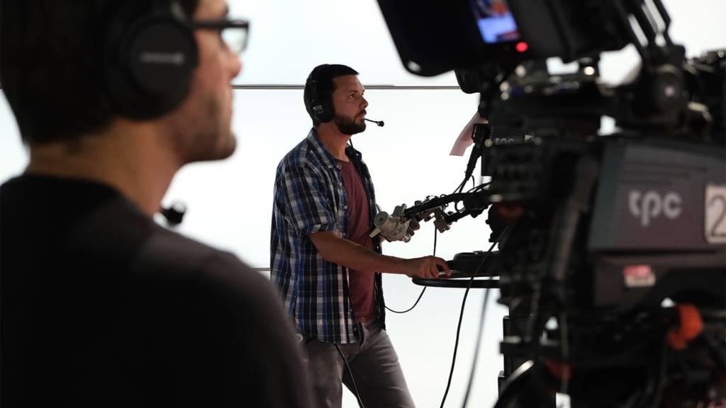 Kameramänner in einem TV-Studio